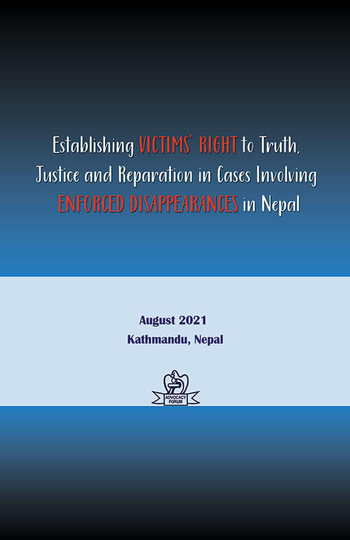 AF published a Handbook on Enforced Disappearances in Nepal